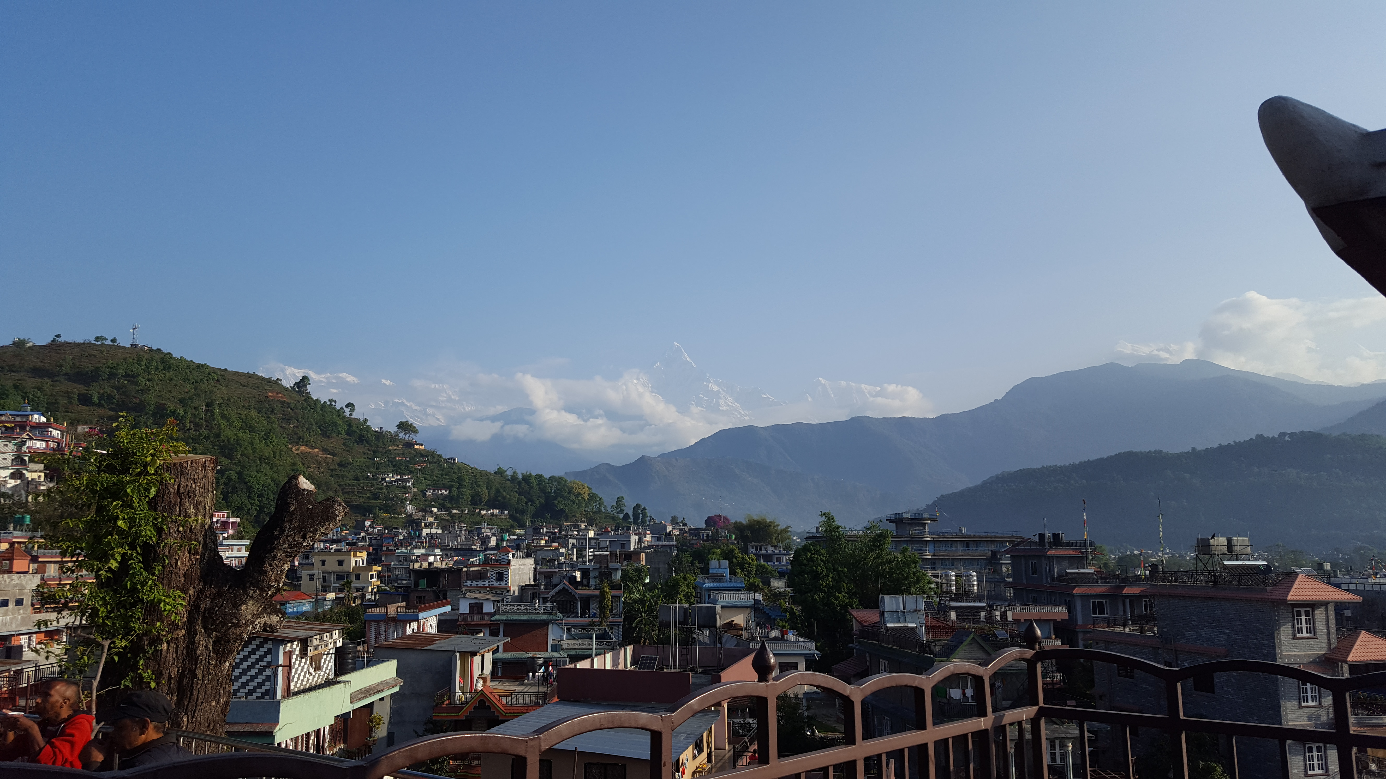 Widok ze Świątyni Bindhyabasini
