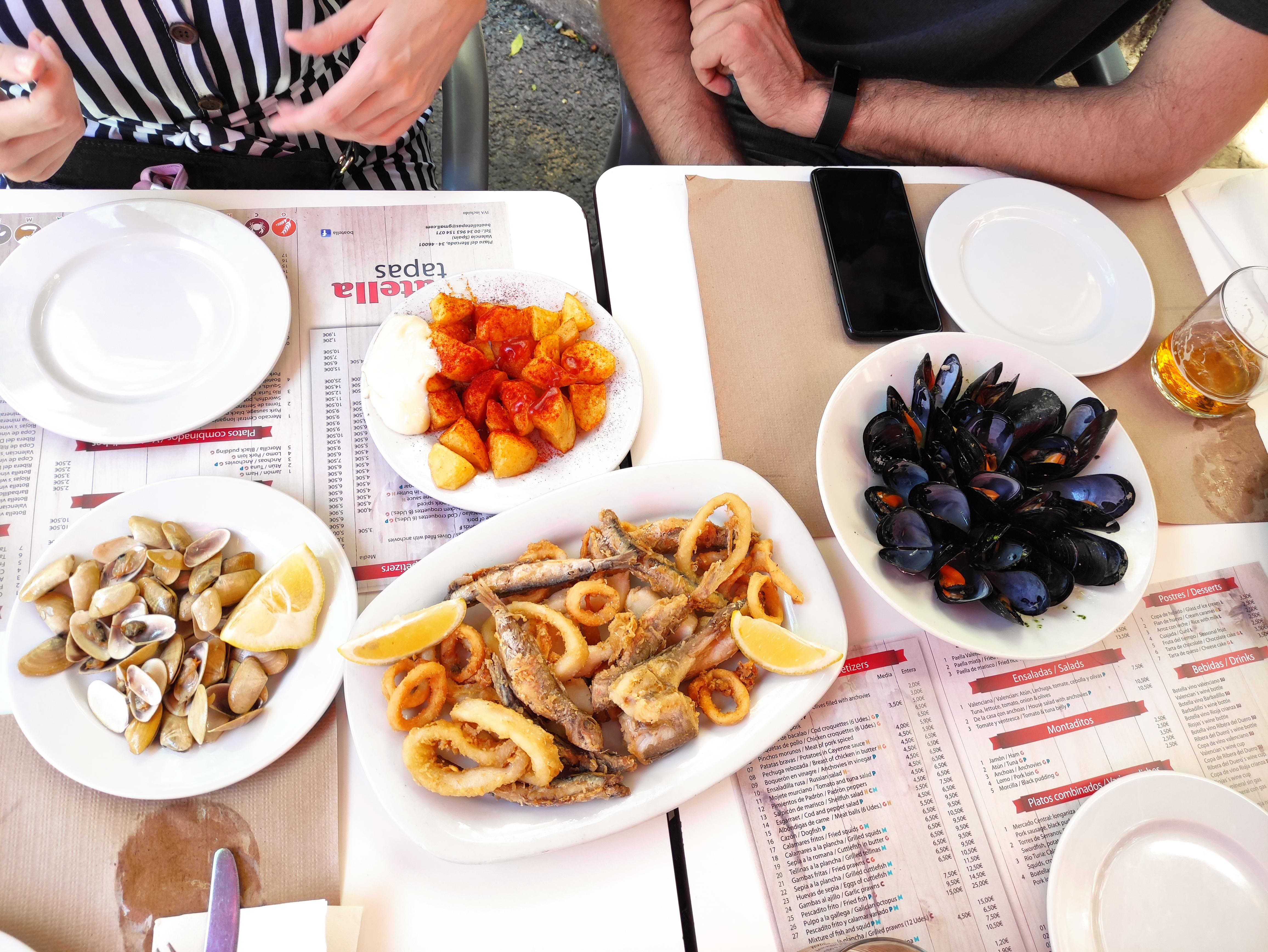Owoce morza w Walencji